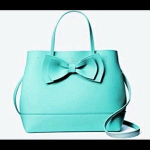 Gorgeous Tiffany blue Kate Spade Ribbon bag NWT